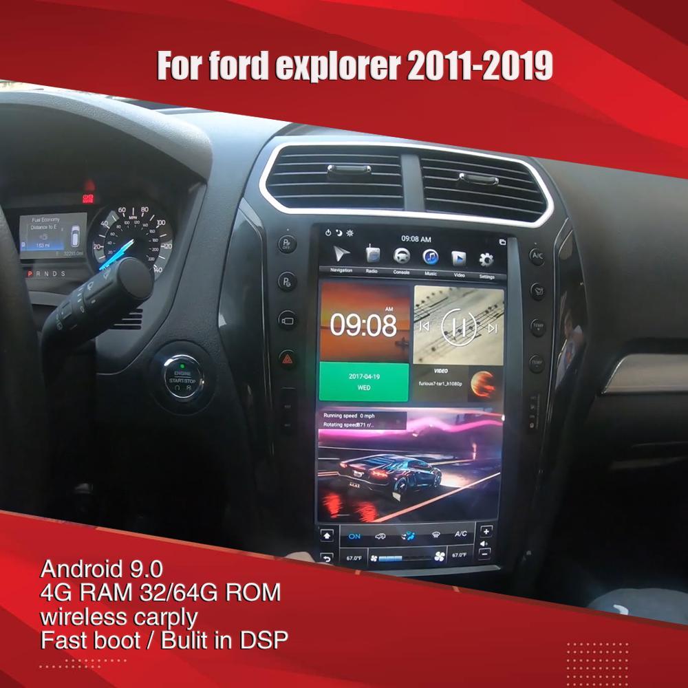 Aucar Tesla 13,6 дюймов для ford Explorer Android мультимедийный автомобильный радиоприемник для ford Explorer 2011-2019 GPS навигация Стерео Авторадио