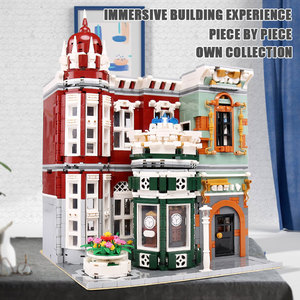 Image 5 - MOC 15008 Street View Building Toys Compatible With 10185 Green Grocer Led Light Model Building Blocks Kids Christmas Toys Gifts