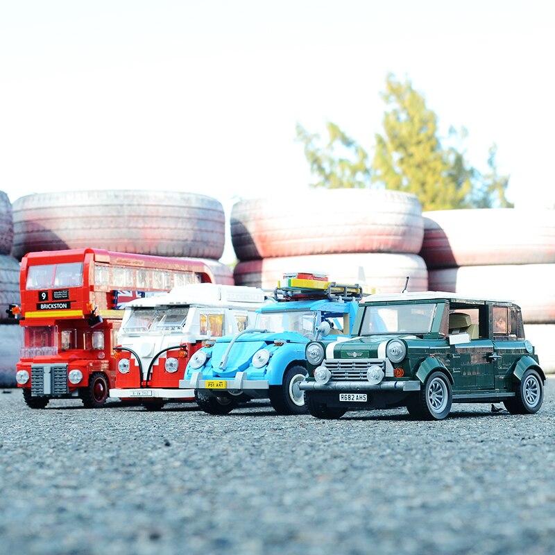 Creator 21001 Volkswagen T1 Van Camper 10220 10242 MINI Cooper 21002 21003 Beetle 10252 10258 London Bus 21045 Building Blocks