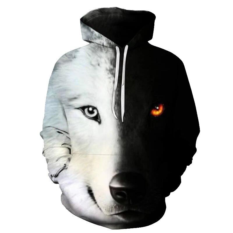 Casual Fashion Men Women 3D Sweatshirt Hoodies 2019 New Wolf Skull Motion Fitness Slim Fit Men Women Plus Size S-6XL Hoodies
