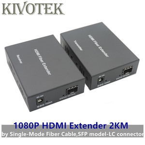 Image 1 - 1080p HDMI Extender Transceiver Adapter Split Extension HD Video Sender/Receiver 2km by Fiber Cable,SFP Connector Free Shipping