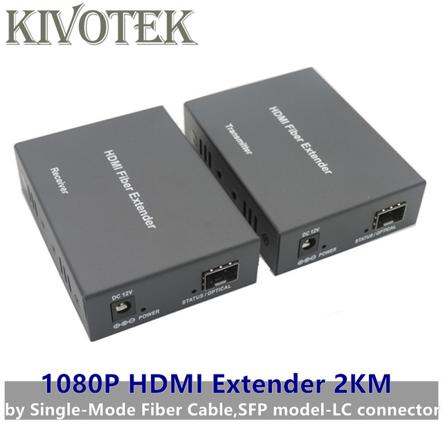1080p HDMI Extender Transceiver Adapter Split Extension HD Video Sender/Receiver 2km by Fiber Cable,SFP Connector Free Shipping