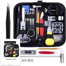 147/151pcs Watch Repair Tool Kit Case Opener Band Link Pin R