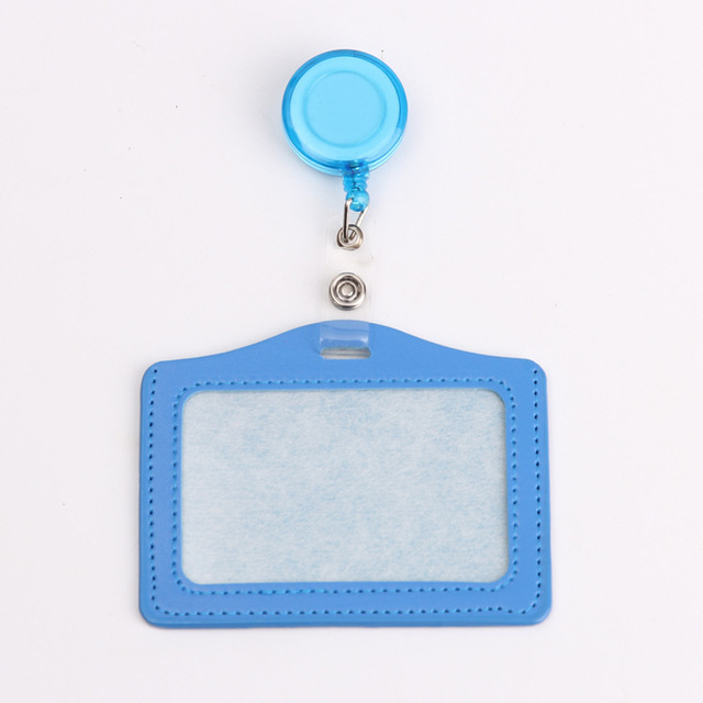 Credit Card Holders With Retractable Badge Reels Clip Name Badge Office School Supplies Identity Badge Protective Card Cover 3