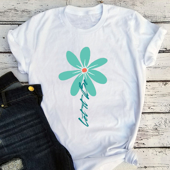 Let It Be Daisy Tee Hippie TShirt Wildflower Daisy Women Shirts Vintage Floral Tees Girls 2020 Fashion Korean Clothes