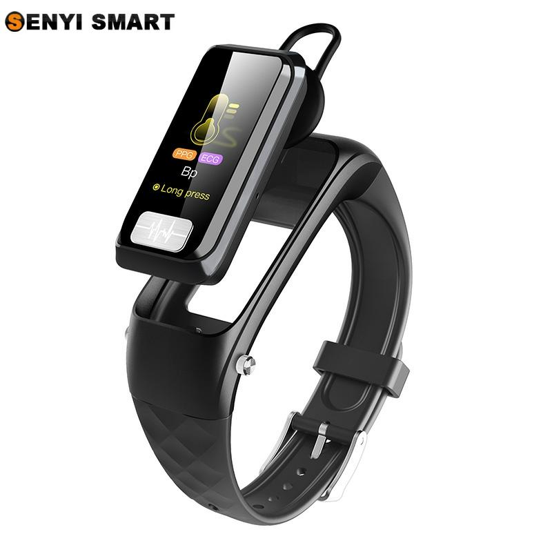 H207 Smart Bracelet Watch Bluetooth Headset 2 in 1 AI ECG + PPG Heart Rate Blood Pressure Monitor Sports Driving Call Smart Watc