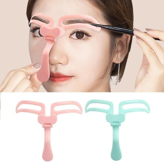Hot Sell Makeup Eyebrow Stencils Professional Beauty Template Tools Eyebrow Cosmetic Drawing Shaper Kit Grooming L9I2 2