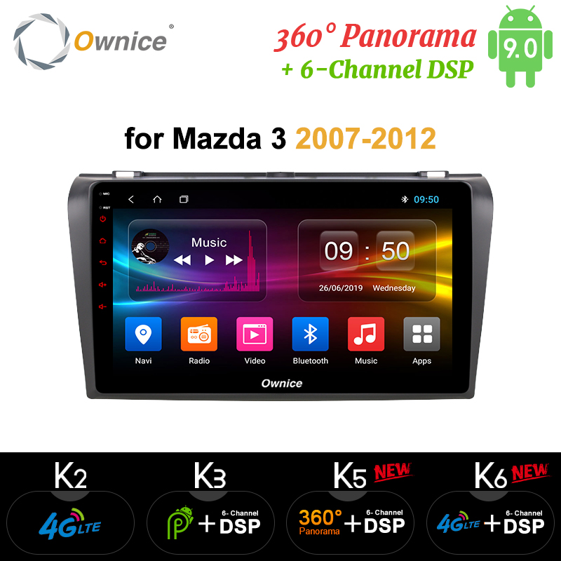 Ownice Octa 8 CORE DSP 360 Panorama Android 9.0 Car DVD <font><b>GPS</b></font> Player For <font><b>Mazda</b></font> <font><b>3</b></font> 2007 - 2012 k3 k5 k6 <font><b>Navigation</b></font> 4G LTE Optical image