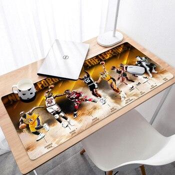 Коврик для мыши xxl 400x900x3 мм удлиненный длинный коврик для мыши игровой коврик для мыши баскетбольная звезда