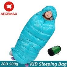 AEGISMAX – sac de couchage pour enfants, enveloppe épaisse en duvet d'oie blanc rempli à 95%, chaud, pour la maison, l'extérieur, le tourisme, la randonnée