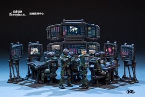 Image 4 - JOYTOY 1/25 Soldiers(5 piece) Battlefield Command Center Action Figures Free shipping