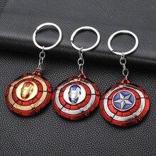 цены 2019 New revolving captain America shield car key chain for men metal avengers key chain pendant BOYFRIEND gift