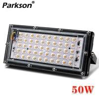 Flutlicht Led strahler 50W AC 220V 230V 240V Wasserdichte IP65 Outdoor Projektor LED Flutlicht Außerhalb straßenbeleuchtung Fokus-in Scheinwerfer aus Licht & Beleuchtung bei