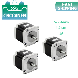 3PCS Stepper motor 57x56 6.35 8mm 4 wires 3A 1.2N.m stepping motor 180Oz-in NEMA 23 for CNC engraving milling machine 3D printer