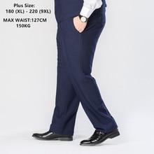 цена на Men's Suit Trousers Dress Pants Formal Wedding Business Men Blue Grey Vest Waistcoat Work Office Plus 6XL 7XL 8XL 9XL Male Pant