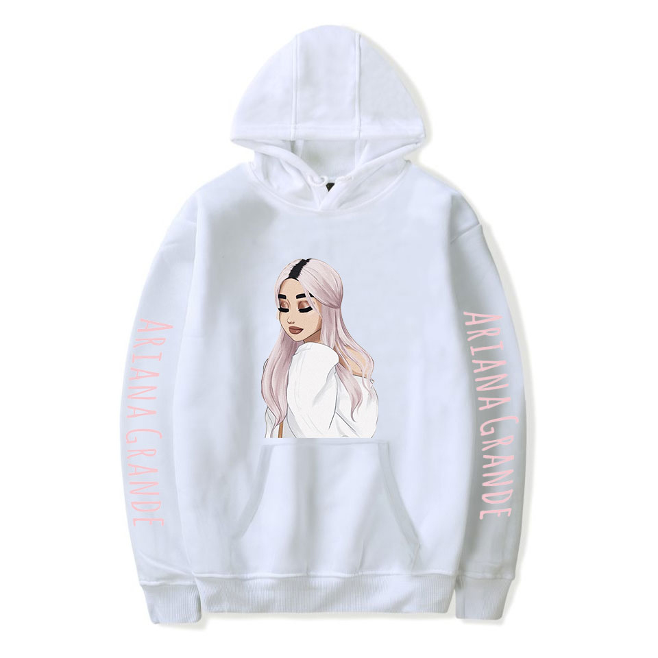 Pop Singer Ariana Grande Hoodie Men And Women Warm Pullover Autumn Boy Girl Casual Hoody White Hip Hop Hooded Sweatshirt