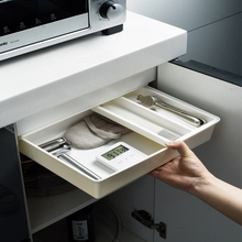 Stationery-Case Pen-Holder Pencil-Tray Makeup-Organizer Under-Desk-Drawer-Hidden-Storage-Box