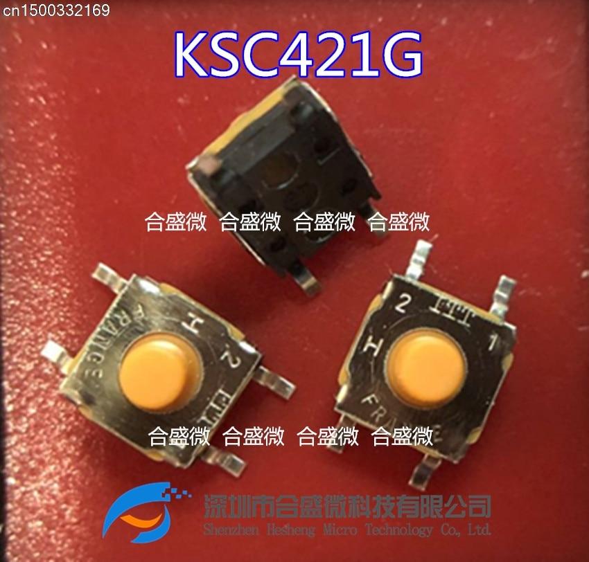 15 pces/original ksc421g70shlfs smd 6.2*6.2*5.2 interruptor macio