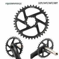 RACEWORK bicicletta corona guarnitura piastra 32T 34T 36T 38T stretto largo Corona ovale rotondo ruota di catena AL7075 GXP XX1 trasporto libero