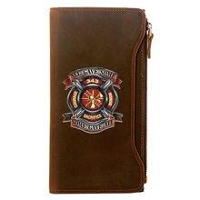 Винтажный Классический мужской кошелек пожарного из 343 натуральной