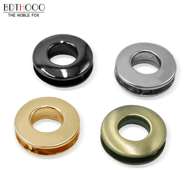 4 Sets Inner 1cm DIY Bag Accessory Screw Airhole Metal Eyelets Round Shape Clavus Metal Ring For Handbag Purse Hardware Parts