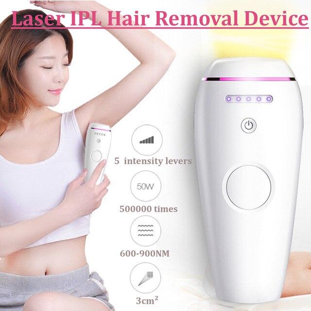 600000 Pulses IPL Laser Epilator Portable Depilator Machine Full Body Hair Removal Device Painless Personal Care Appliance
