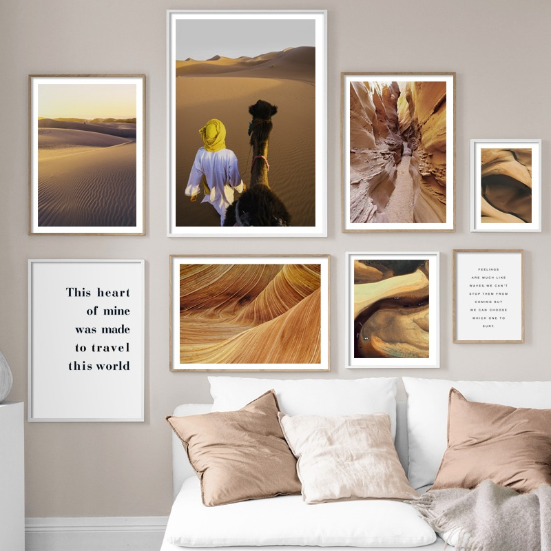 Desert Llama Antelope Canyon Quotes Wall Art Print Canvas Painting Nordic Posters And Prints Pictures For Living Room Decor