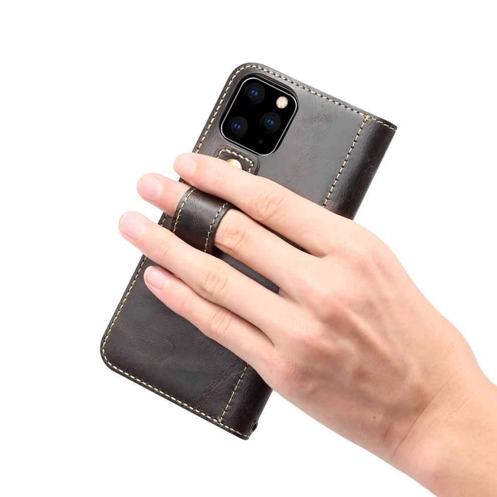 Premium Leather Magnet Button Flip Strap Case for iPhone 11/11 Pro/11 Pro Max 62