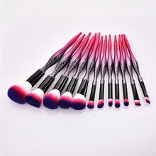 12pcs Make Up Brush Set Handle Delicate Makeup Brushes Powder Foundation Contour and Eye Brushes 2020 NEW T12061 new coastal scents 22 pieces makeup brushes make up brush set eyeshadow contour powder contour cream brush tools dhl free shipp