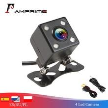 AMPrime Автомобильная камера заднего вида, запасная парковочная камера, 4 светодиодный, ночное видение, водонепроницаемая, 170, мини, автомобильная парковочная камера заднего вида