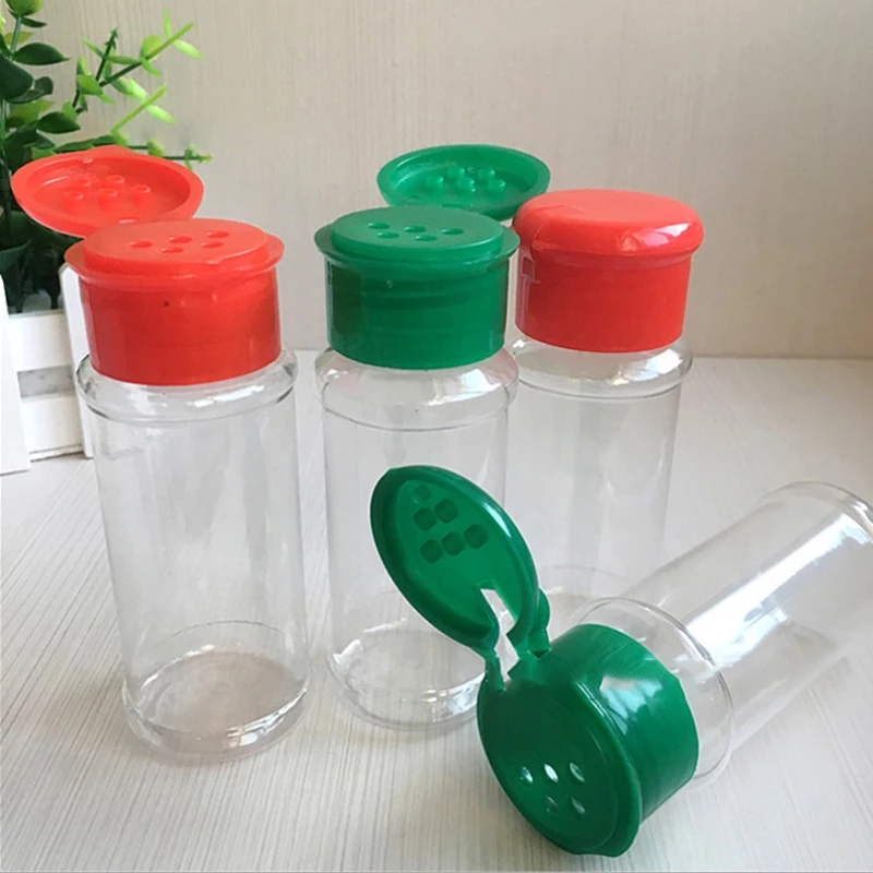 Salt shaker 100ml Plastic Spice  Jar BBQ Salt Barbecue Condiment Holder Bottles Salt Pepper Shaker Can Kitchen Gadget 10/20pcs