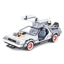 Welly-Machine à temps deloren, voiture rétro vers le futur, voiture statique, jouet à collectionner, 1:24 DMC-12