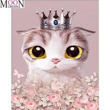 Алмазная картина «сделай сам» в виде кошки мозаика форме короны