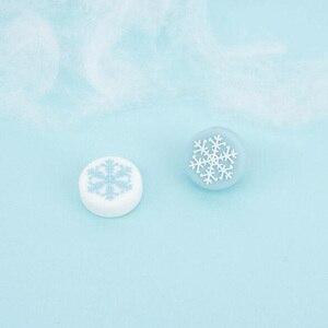 Image 3 - Cute Snowflake Girl Snow flower Thumb Stick Grip Cap Joystick Cover For Nintend Switch NS Lite NS JoyCon Controller Gamepad Case