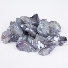 1pcs Geode crystal stones raw crystal natural raw wand quartz geode Crystal Cluster Healing Specimen Decor 10pcs natural raw amethyst crystal for healing stones