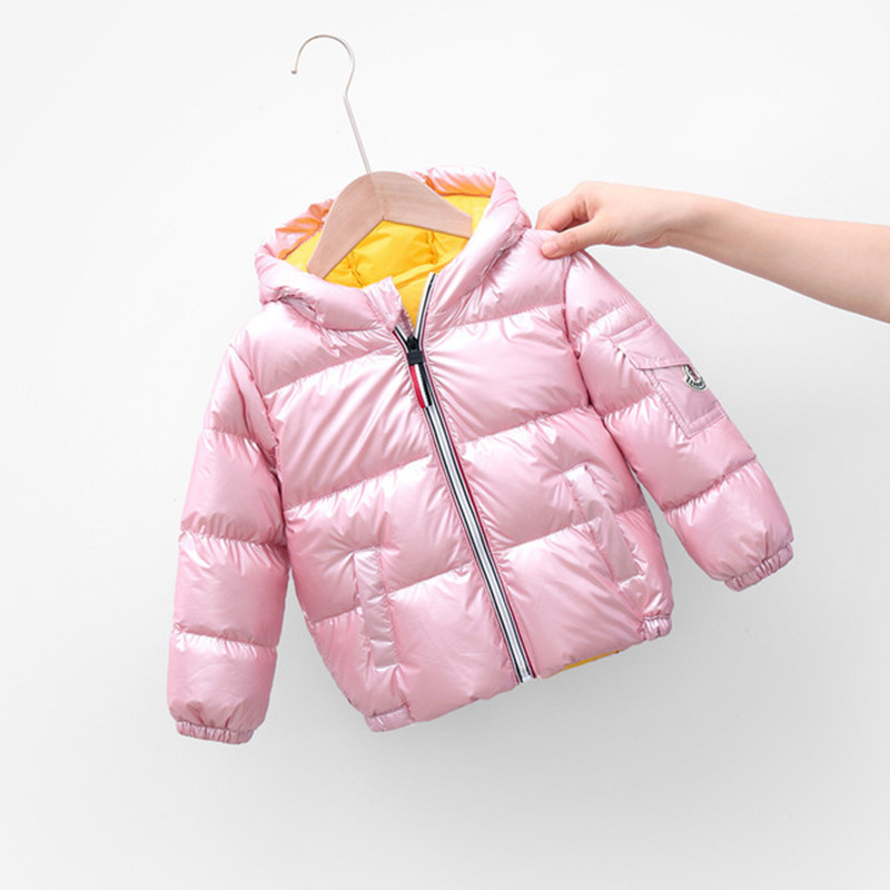 Boys Girls Jackets Hooded Outerwear Winter Children Warm Thick Jacket For Kids Clothes Baby Outerwear Zipper Coats Ski Jacket 4