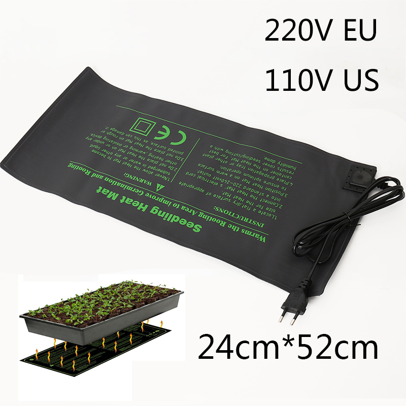 NEW Seedling Heating Mat 50x25cm Waterproof Plant Seed Germination Propagation Clone Starter Pad 110V/220V Garden Supplies