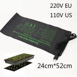 Nova esteira de aquecimento de mudas 50x25cm à prova dwaterproof água planta semente germinação propagação clone starter almofada 110 v/220 v jardim suprimentos