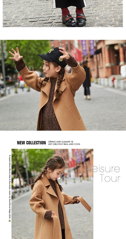 Para meninas moda outono inverno blusão jaqueta
