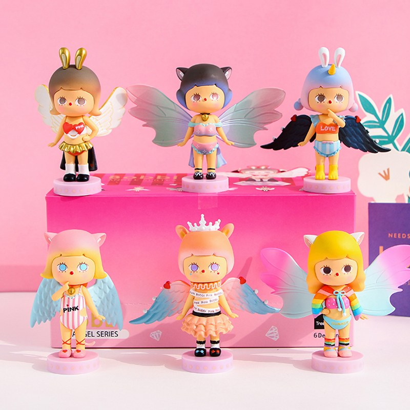 BOBBI New Angel POPMARTER Blind Box Anime Surprise Doll Desktop Decoration Second Element Doll Girl Birthday Gift For Girl Toys