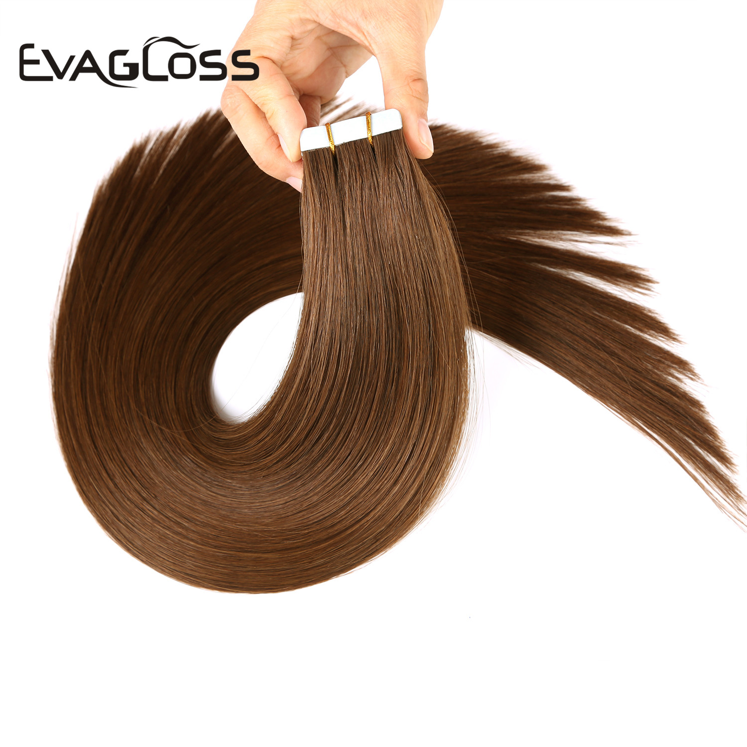 Skin Weft Machine Remy Tape In Human Hair Extensions 20pcs 40pcs 80pcs Adhesive Double Sided Tape In Hair Extensions 12