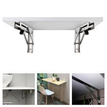 8in/10in/12in/14in Heavy Duty Polished Folding Shelf Bench or Shelf Bracket Table C6I4