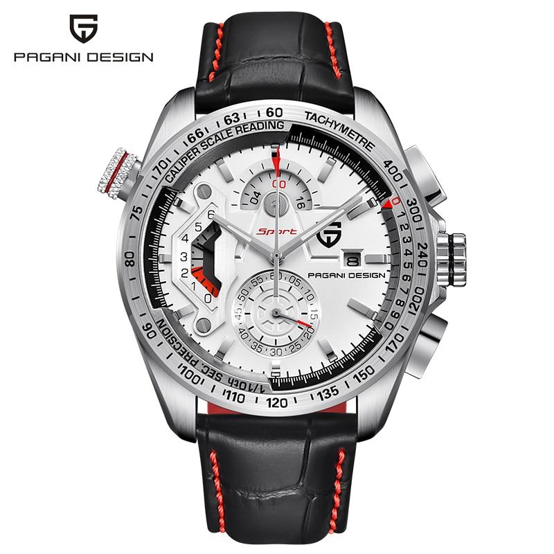 Watches Pagani-Design Chronograph Stainless-Steel Sport Waterproof Quartz GEJIAN Case