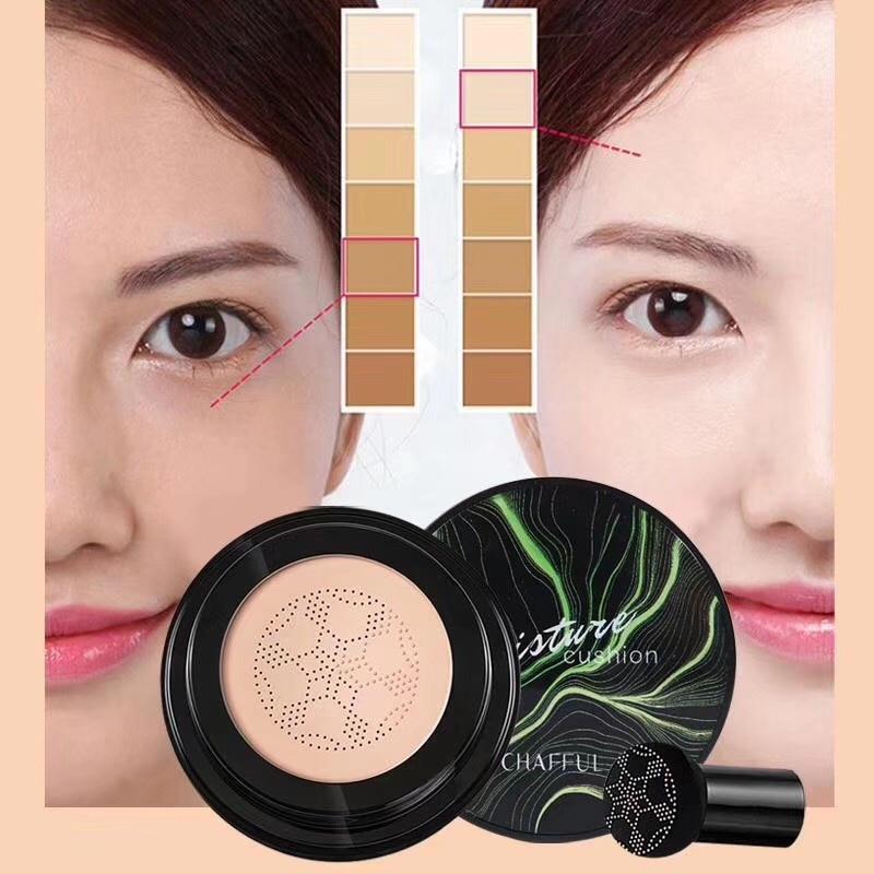 SUNISA New Mushroom Head Makeup Air Cushion Moisturizing Base Air Permeable Natural Shine Makeup BB Cream TSLM1