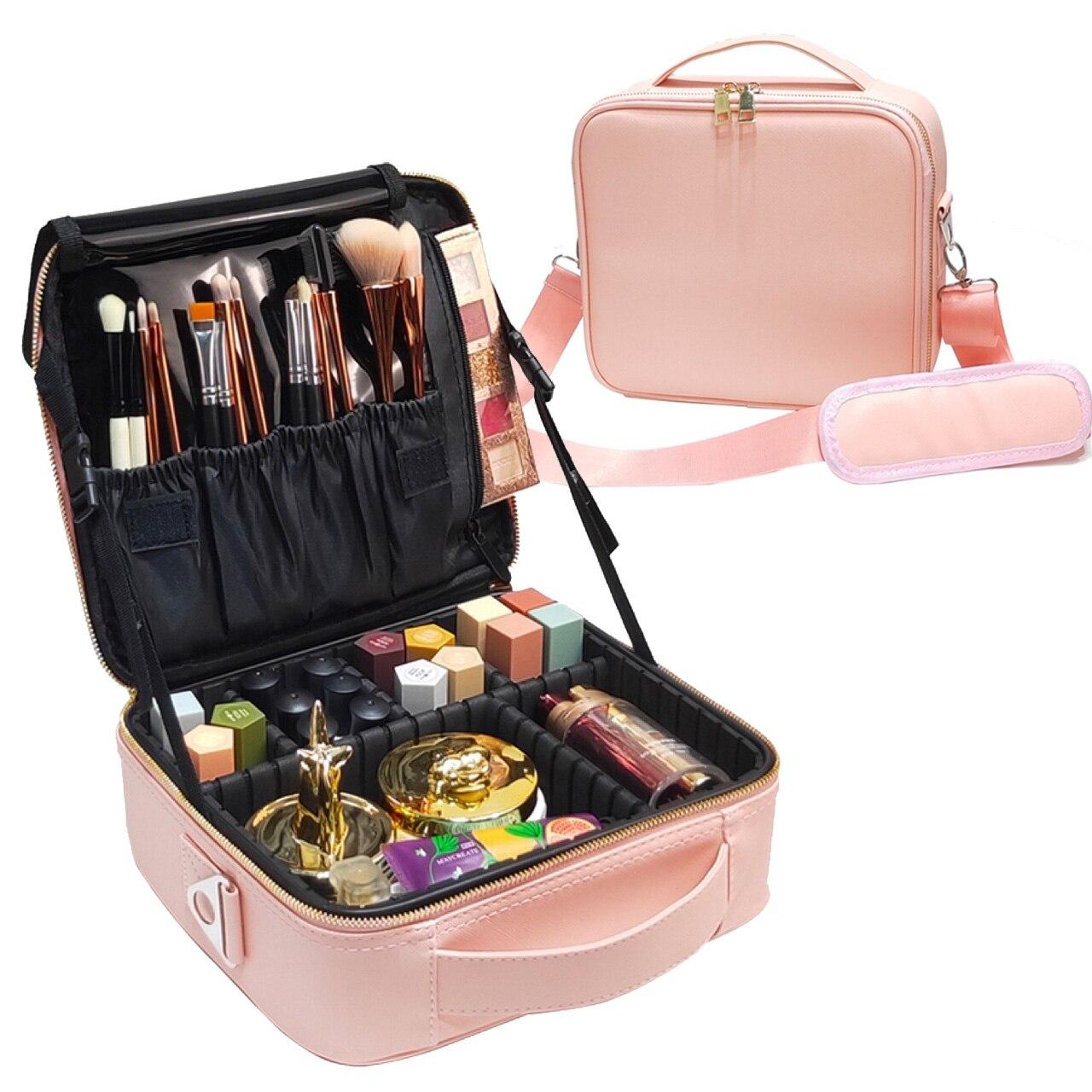 New Women Makeup Large Capacity Cosmetic Bag Beauty Salon Tattoos Nail Art Tool Bin Case|Cosmetic Bags & Cases| - AliExpress