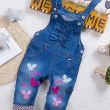 Jeans Overalls Jumpsuit Trousers Long-Pants Dungarees IENENS Toddler Girl Kids Denim
