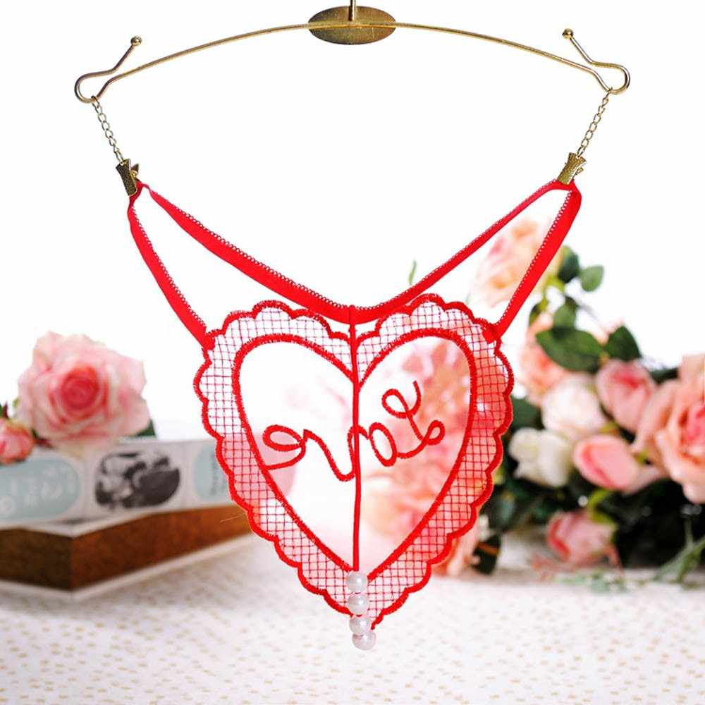 Culottes sous-vêtements femme dentelle string G-String perle coeur femme string broderie t-back sous-vêtements féminins pour sous-vêtements de femme