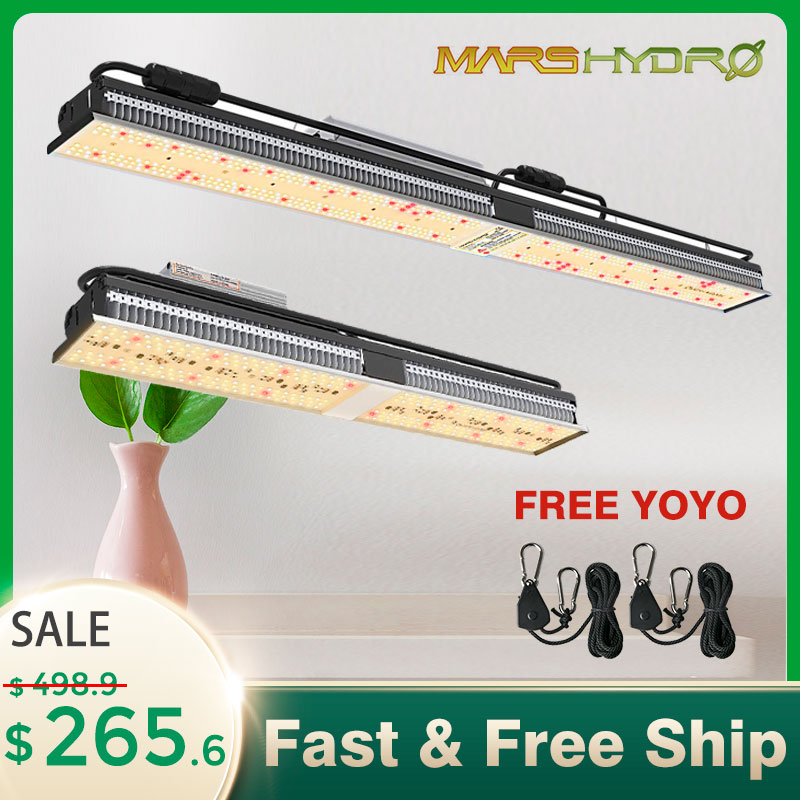 MarsHydro SP-150 250 LED Grow Light Full Spectrum Indoor Garden Hydroponics Zero Noise Waterproof Professional Planting Lights