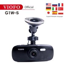 VIOFO оригинальная G1W-S Автомобильная камера обновленная HD 1080P Dash Cam супер конденсатор Novatek96650 видеокамера IMX323 и gps Поддержка