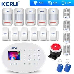 Image 1 - KERUI W20 Mẫu Mới Không Dây 2.4 Inch Cảm Ứng WiFi GSM An Ninh Hệ Thống Báo Trộm Ứng Dụng RFID Mini Di Động PIR cảm Biến Còi Hú